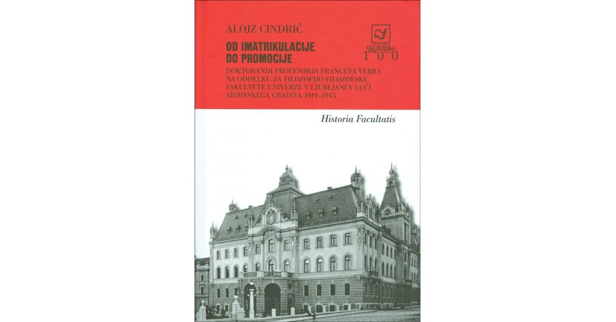 Od imatrikulacije do promocije - Alojz Cindrič | Menschenrechtaufnahrung.org