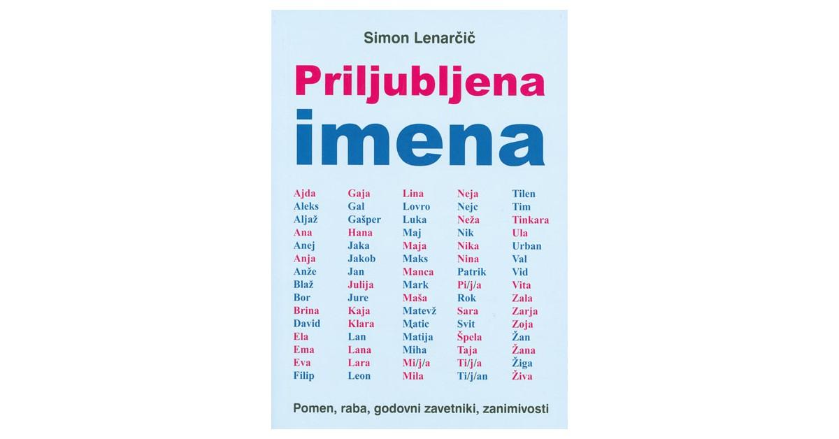 Priljubljena imena - Simon Lenarčič | Fundacionsinadep.org